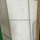 Pedra artificial branco prateado pedra artificial Laje de quartzo