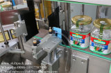 Máquina de etiquetas do lado traseiro e superior da parte dianteira de rotulagem automática do sistema para latas de cerveja