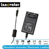 adattatore di potere di 12V 2.0A 24W con il tipo di Wallmount per l'indicatore luminoso & il computer portatile del LED