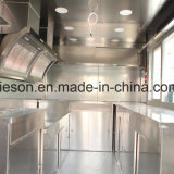 Schiebendes Glasfenster rüstete 390cm Länge beiliegenden mobilen die Küche-Schlussteil aus