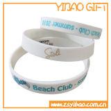 Bracelete personalizado da borracha de silicone com logotipo de Debossed (YB-SW-83)