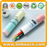 Conteneur de empaquetage de crayon lecteur de trousse d'écolier de bidon en métal de cadre de papeterie