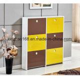 Venda a quente MDF branco 2 Portas Armário caixa de sapato de madeira