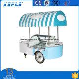 Carro do gelado de aço inoxidável de 12 sabores/preço do carro do impulso