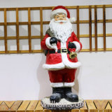 Handmade конструкция Figurines Santa Claus магнезии для декора сада
