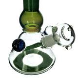 """Glas der Becher-Wasser-Rohr-8.7 """" leitet grünes Somking Rohr (ES-GB-306)"""