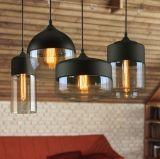 4つのライトが付いているアメリカの国様式の中二階のレトロのガラスペンダント灯