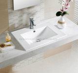 Loiça sanitária 70cm da borda fina retangular pia vaidade para casa de banho