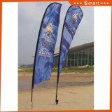 110gによって編まれるファブリック昇進の羽の上陸海岸表示旗の販売で最上質