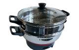 Deux niveaux d'acier inoxydable Multipurpose Home Appliance deux couches cuiseur vapeur électrique