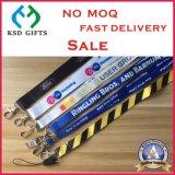기장 권선과 플라스틱 클립 (KSD-920)를 가진 다채로운 직물 방아끈