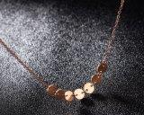 簡単で小さいローズの金の円形の首の鎖の女性のパーソナリティー鎖骨の鎖のネックレスの小さい部分