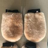 100 % laine véritable peau de mouton WASH MITT