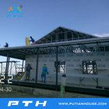 Casa de lujo prefabricada del chalet del acero ligero de la alta calidad 2016