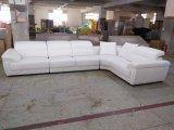 Couro genuíno L sofá Sbl-9156 da sala de visitas de canto grande africana de Chape