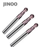 Las flautas de alto rendimiento, 2 de recubrimiento de oro de carburo sólido CNC fresa de bola