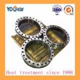 Endurecimiento por inducción de anillo interior de los engranajes utilizados en la industria metalúrgica