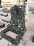 Зеленые надгробные плиты с чистосердечными Headstones гранита