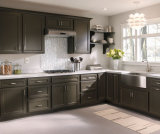 Küche-Möbel-festes Holz-Küche-Luxuxschrank (PR-K2033)