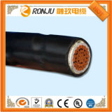 PVC de cobre do condutor isolado e fio elétrico liso 2X10mm2 da bainha BVVB