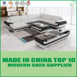 Sala de conjunto de móveis sofá de couro de canto definido