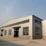 Gummiaufbereitenvorfabrizierte Stahlwerkstatt mit der 3 Meter-Backsteinmauer