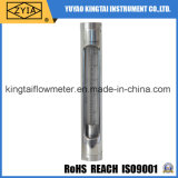Compteur de débit vertical de catégorie comestible du tube de verre SS304 d'installation