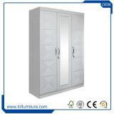 MDF PVC 3개의 문을%s 가진 물자 옷장 옷장 나무로 되는 백색 색깔