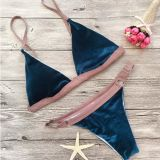 Neue Stapel-Beschichtung, die Gewebe-Bikini-Badeanzug-Strand-Badebekleidung sich schart