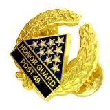 Venda por grosso de metais Ouro sorrindo crachá para a etiqueta de nome (XD-03132)