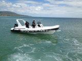 Liya 7.5mの膨脹可能な肋骨のボートの軍の堅く膨脹可能なボート