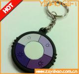저가 (YB-LK-05)를 가진 선전용 선물 가죽 Keychain