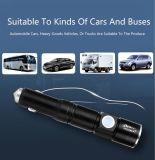 Молоток 4 безопасности заряжателя автомобиля заряжателя USB факела СИД в одном заряжателе автомобиля функции