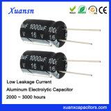 De goedkope Elektrolytische Lage Lekkage van de Condensator 1000UF 16V