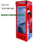 Purswav 270L DC 12V24V стекла двери демонстрация системы охлаждения 0~10степени холодильник солнечной батареи охладителя