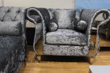現代イタリアの居間の家具のホテルのレセプションのステンレス鋼の足のソファー1のシート