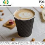 Tazza di carta rossa della parete triplice asportabile/tazza di caffè calda