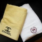 Горячие полотенца ванны гостиницы надувательства 70X140cm 600g 32s Jacauard с логосом