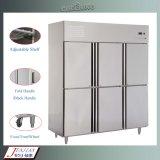 Refrigeratore commerciale incoraggiante/congelatore/frigorifero dell'acciaio inossidabile (0.8LG)