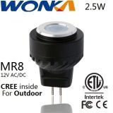 屋外の照明のためのクリー族LED Mr8の球根2.5Wのスポットライト