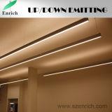 2018 Venta caliente el doble de la iluminación LED de arriba y abajo de la luz de Trunking, LED Luz lineal
