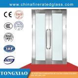 Châssis en acier galvanisé ou inoxydable résistant au feu des portes en verre de transmittance élevée
