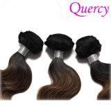 100% прав Virgin волосы трех тонов Омбре цвет Бразильский орган человеческого волоса кривой