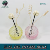 bottiglia di vetro a forma di del diffusore della canna dell'aroma dell'ananas 100ml