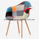 Резиновый стул твердой древесины нордический тканевого материала