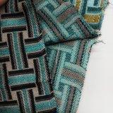 Il filato del jacquard ha tinto il tessuto da arredamento 100% del cuscino della presidenza del sofà della tessile della famiglia del poliestere