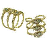 925 серебристые моды дизайн Chrisma подарок украшения женщин слой кольцо (R10983)