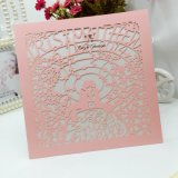 Carte faite sur commande d'invitation de papier de perle d'impression offset polychrome