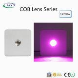 1*200Вт светодиод объектива початков расти лампа для выращивания в коммерческих целях