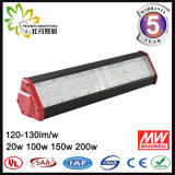 Luz linear de la bahía de iluminación de los dispositivos de Highbay 50W LED de la alta luz industrial LED de la bahía alta